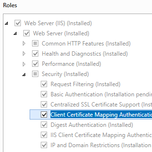 Client certificate mapping authentication the official for Consul server vs client